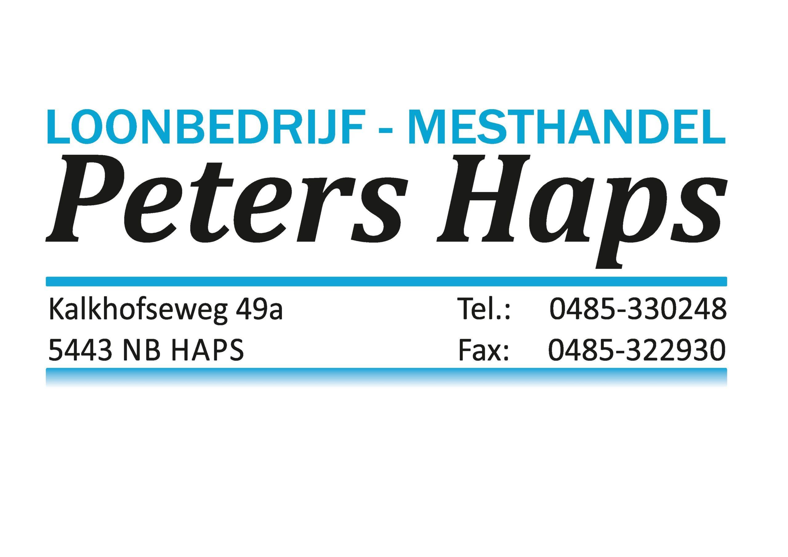 Loonbedrijf en mesthandel Peters Haps